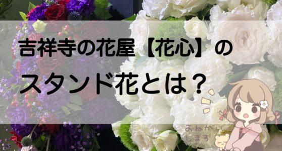 吉祥寺の花屋【花心】のスタンド花の種類と値段について